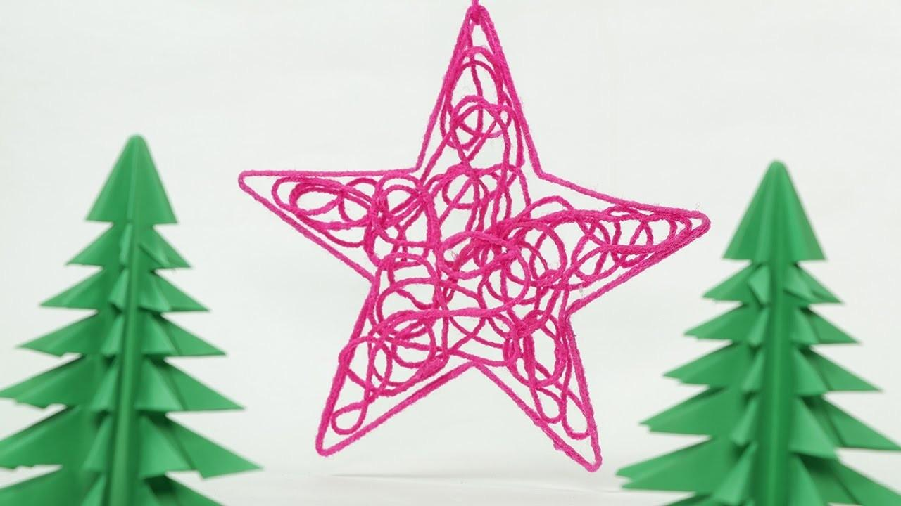 Diy Christmas Star Ornament Craft Thread Homemade