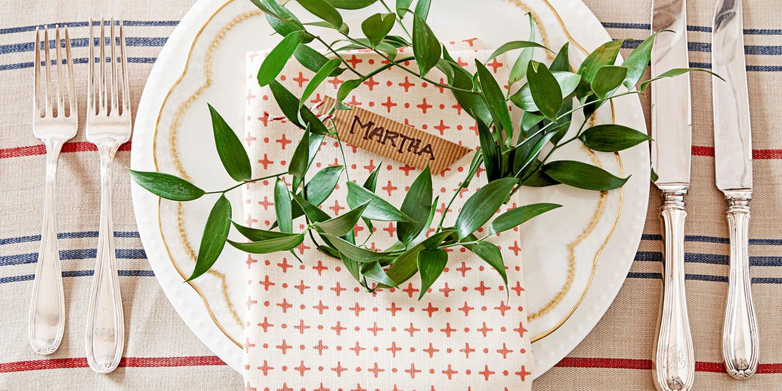 Diy Christmas Table Decorations Settings