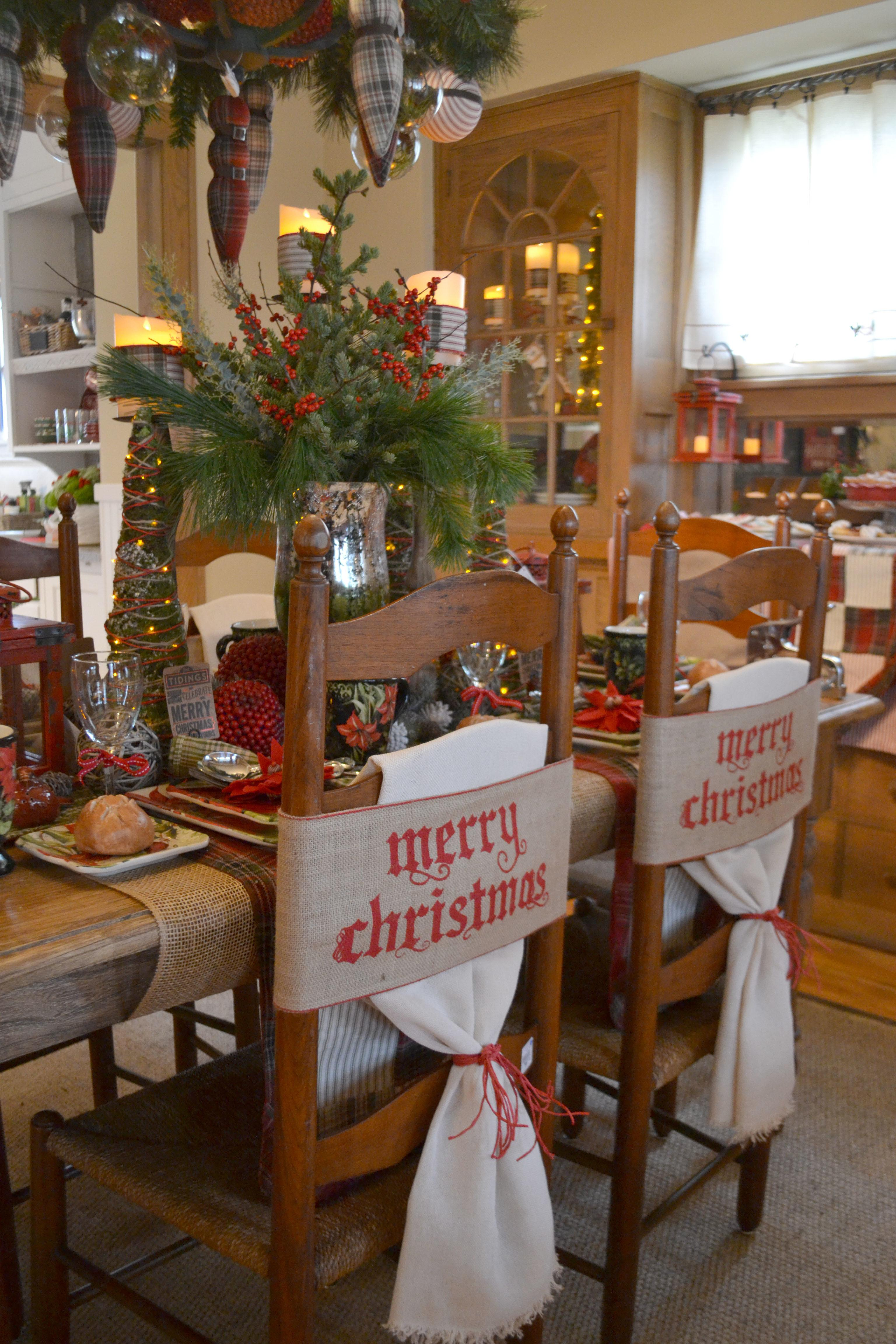 Diy Christmas Tablescapes Knock Your Socks