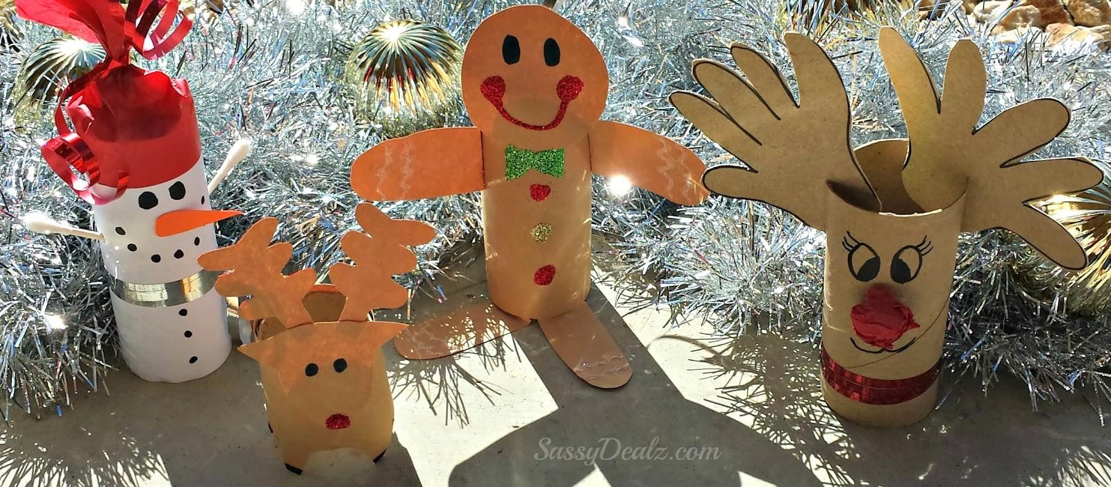 Diy Christmas Toilet Paper Roll Craft Ideas Kids