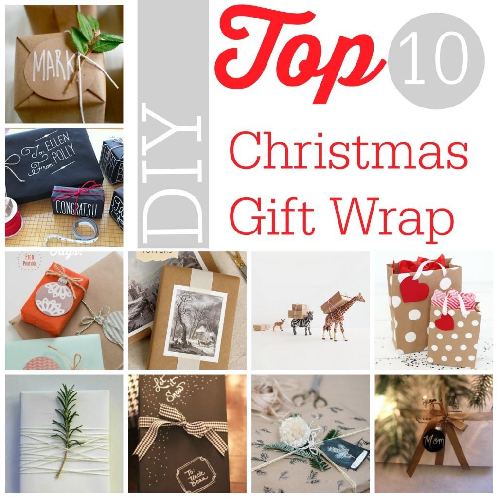 Diy Christmas Top Gift Wrap Southern