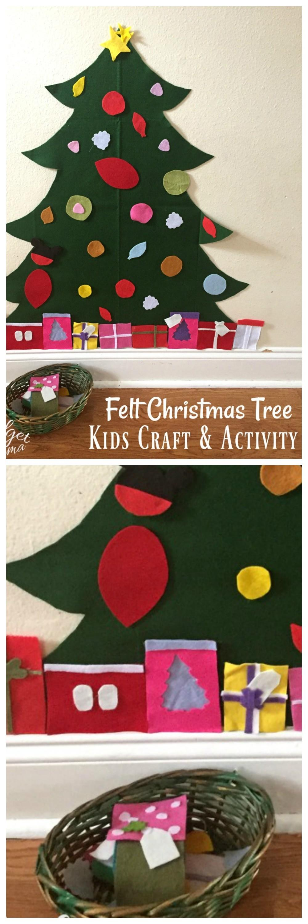 Diy Christmas Tree Playset Made Felt Midgetmomma