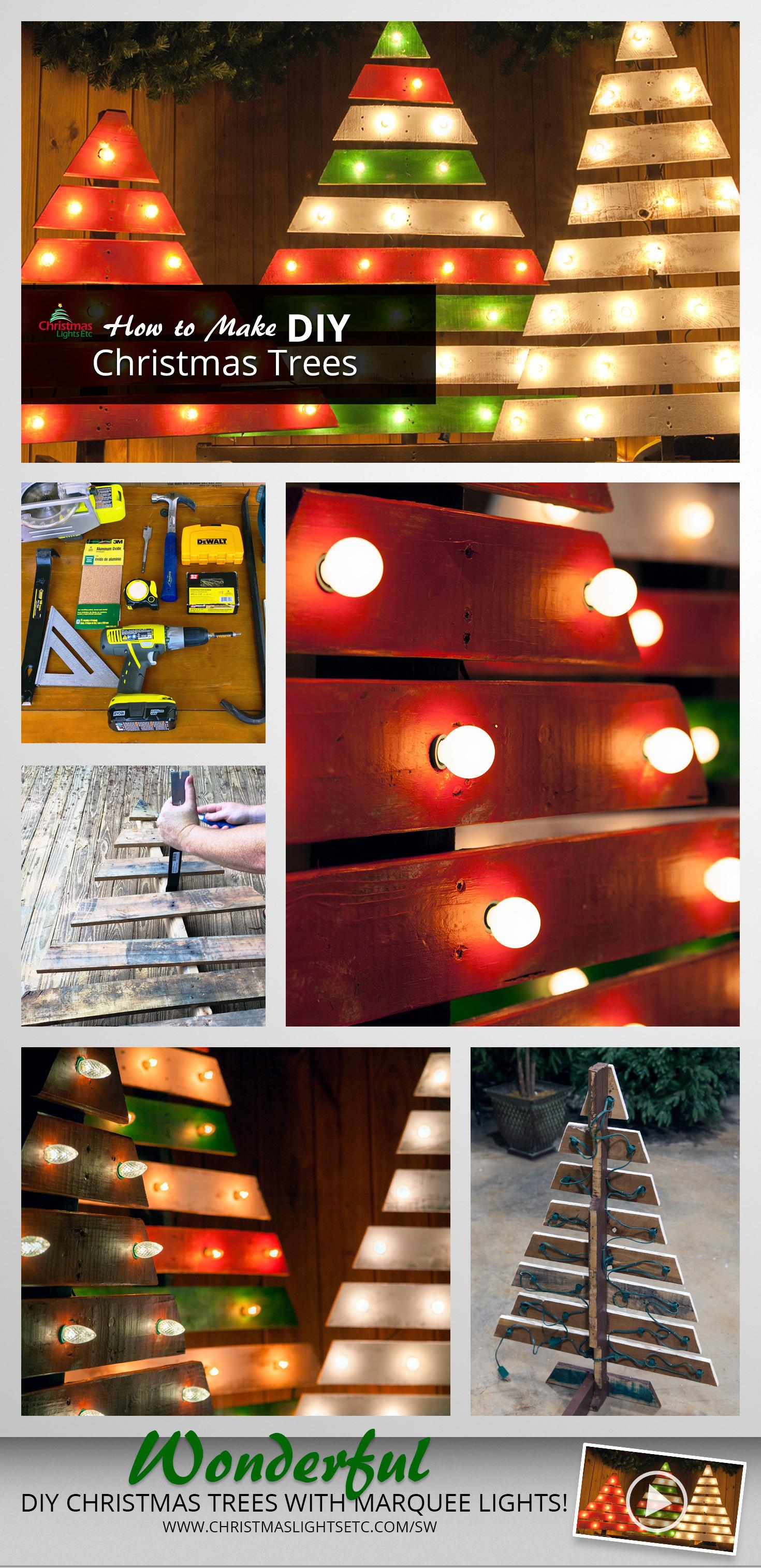 Diy Christmas Trees Marquee Lights