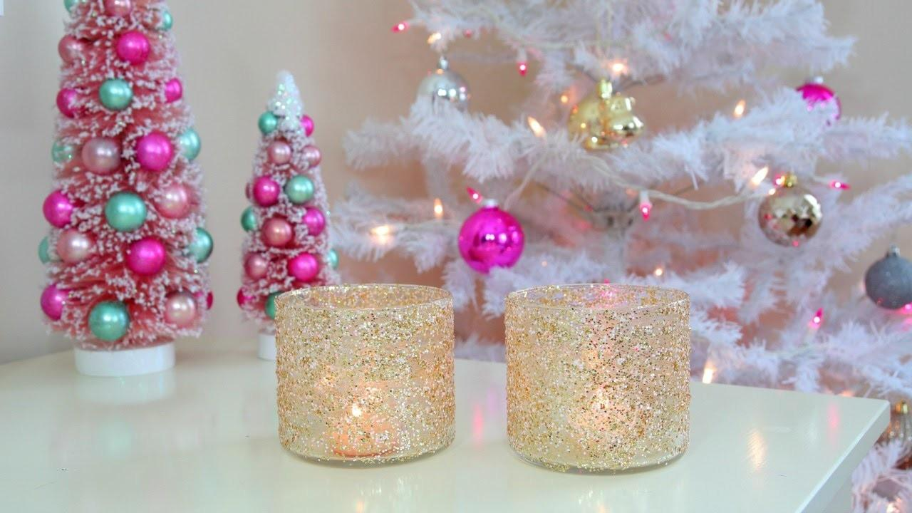 Diy Christmas Winter Room Decor Frosty Glitter Jars