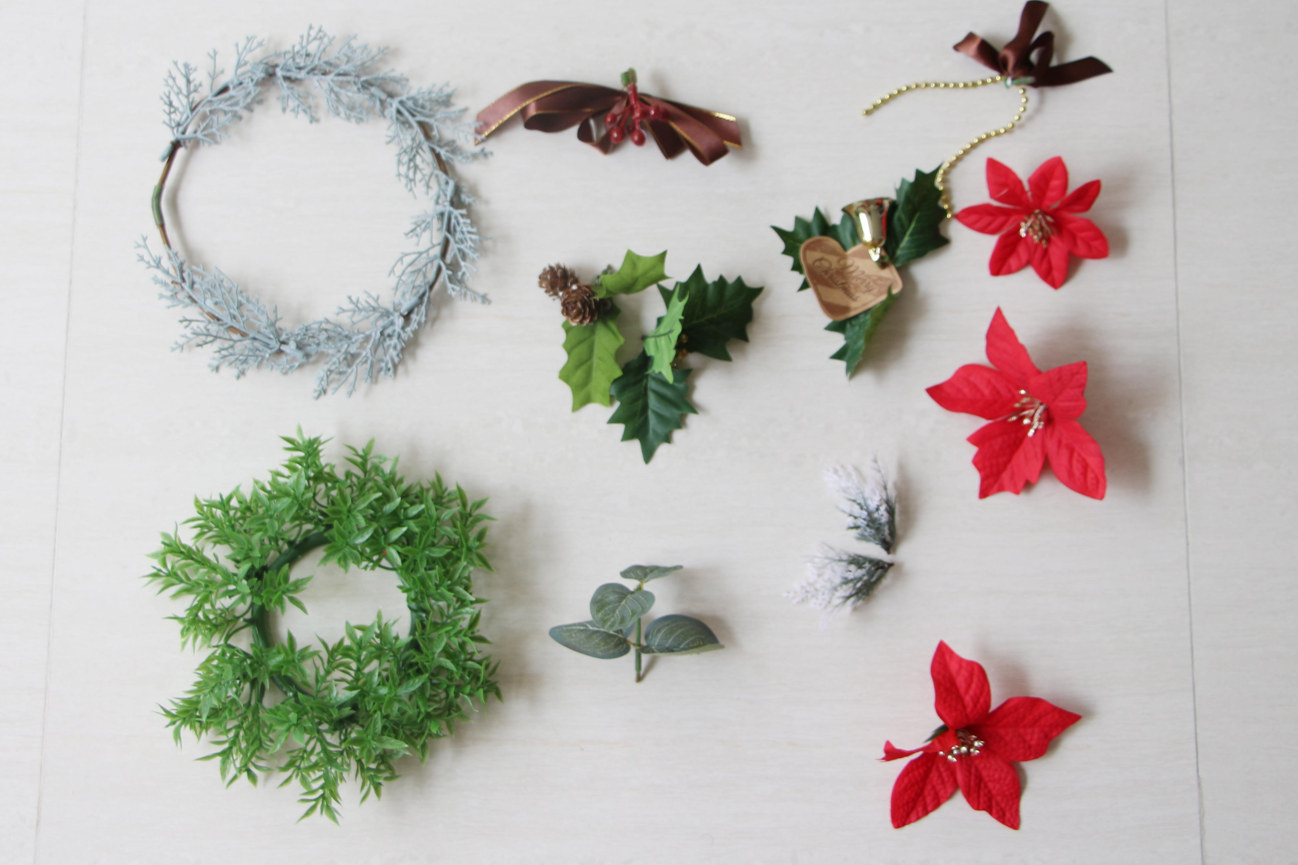 Diy Christmas Wreath Daiso Supplies Sarach Stefith