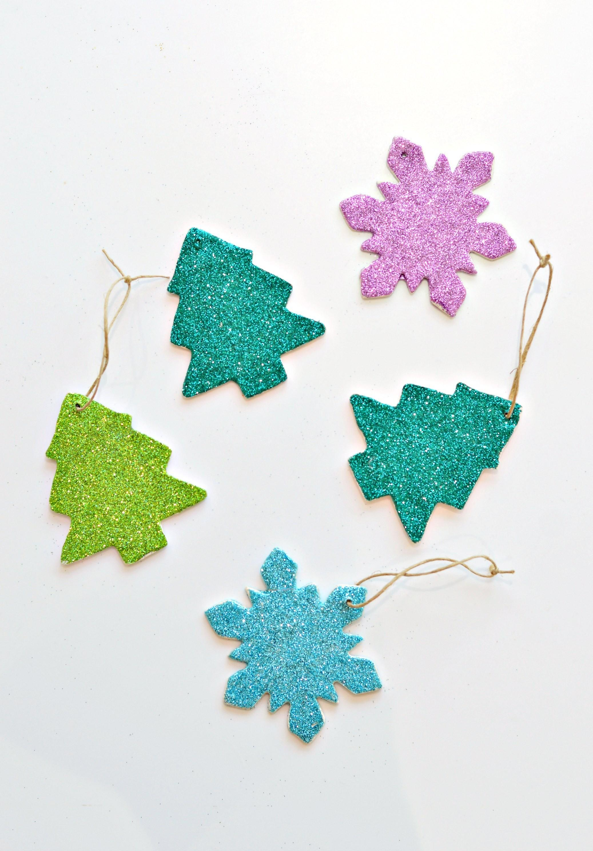 Diy Clay Glitter Christmas Ornaments Video