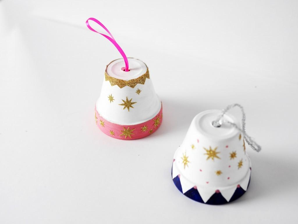 Diy Clay Pot Christmas Bell Ornament