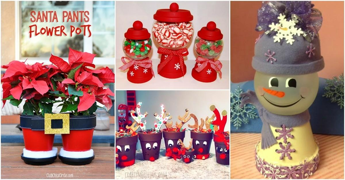 Diy Clay Pot Christmas Decorations Add Charm