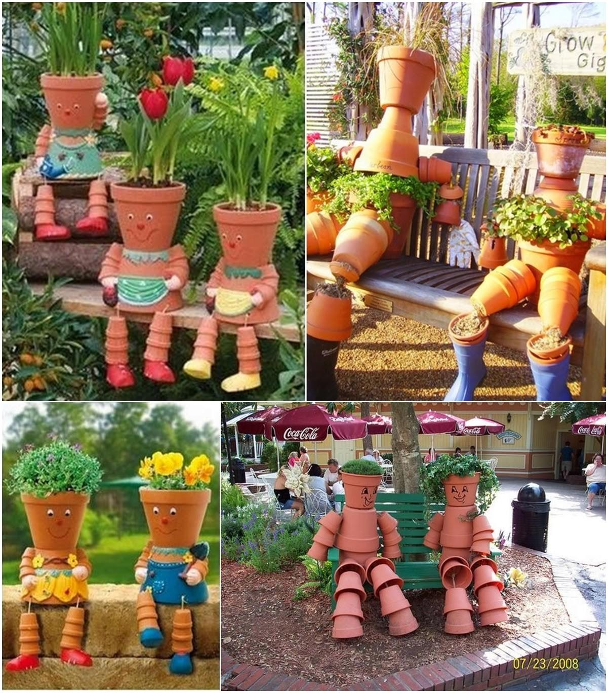Diy Clay Pot Flower People Craft Projects