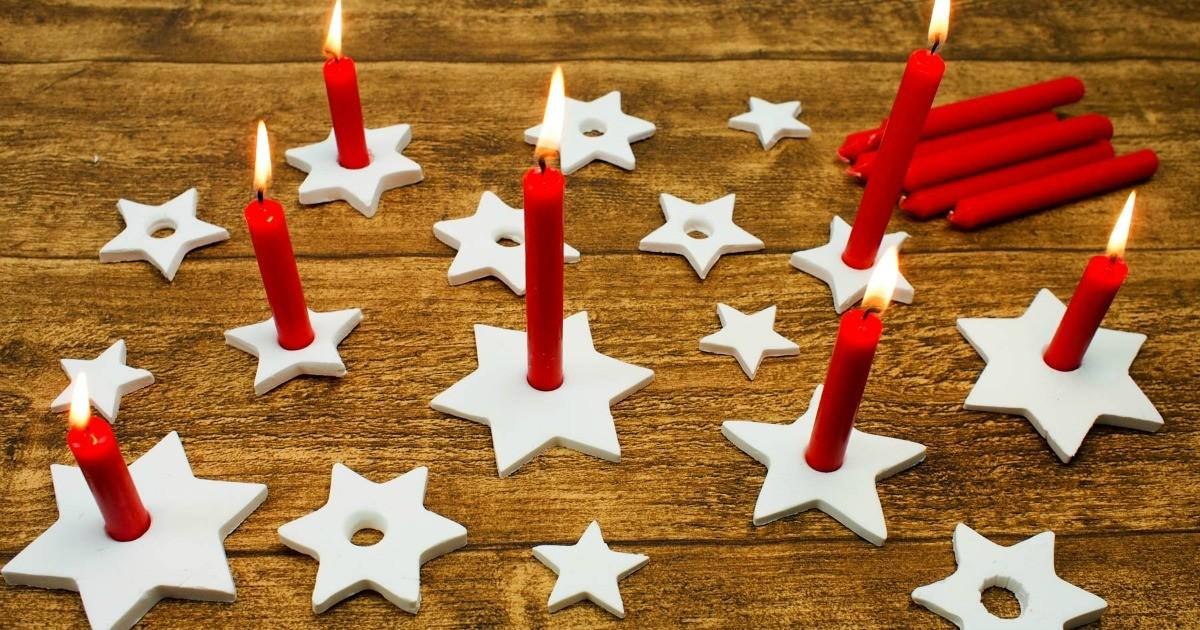 Diy Clay Star Candle Holders Mum Madhouse