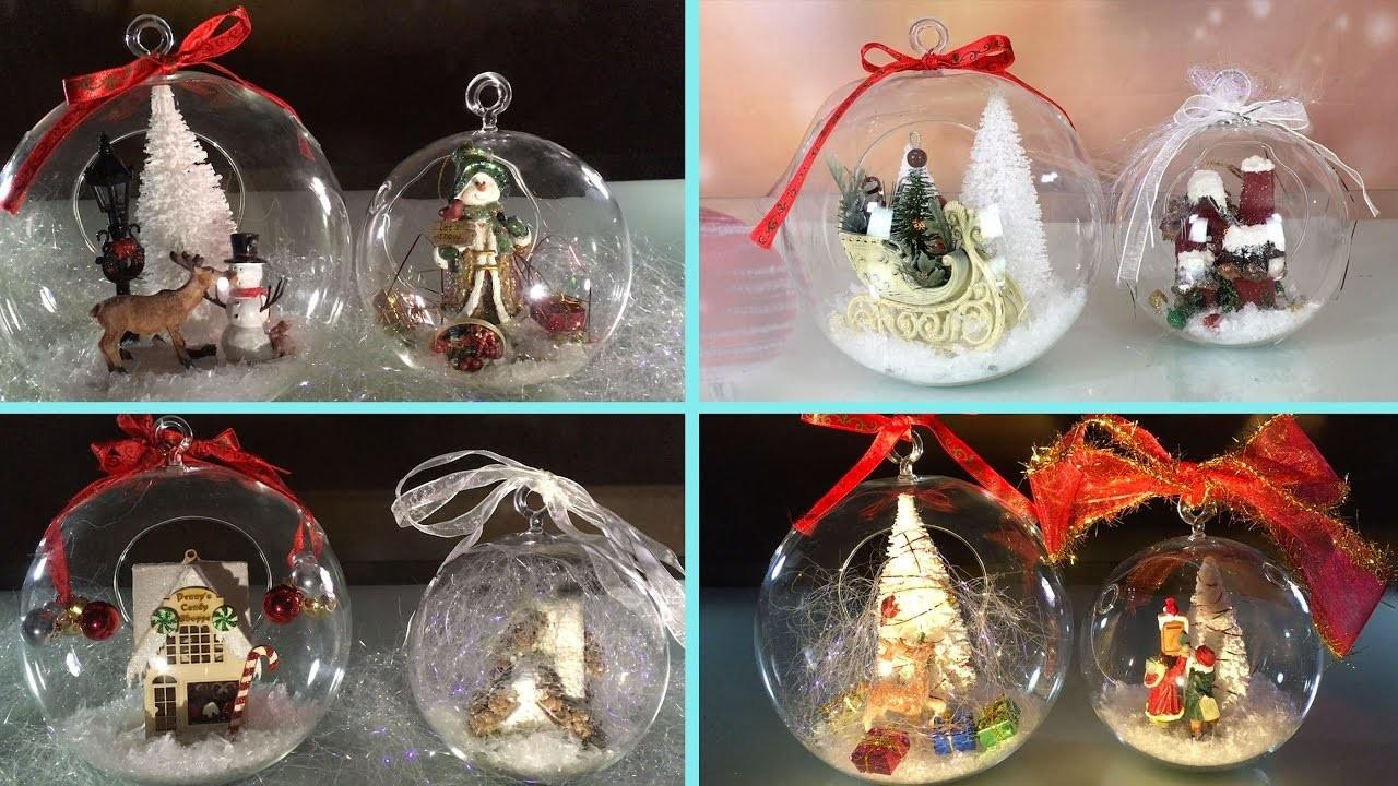 Diy Clear Glass Ornaments Christmas New Year