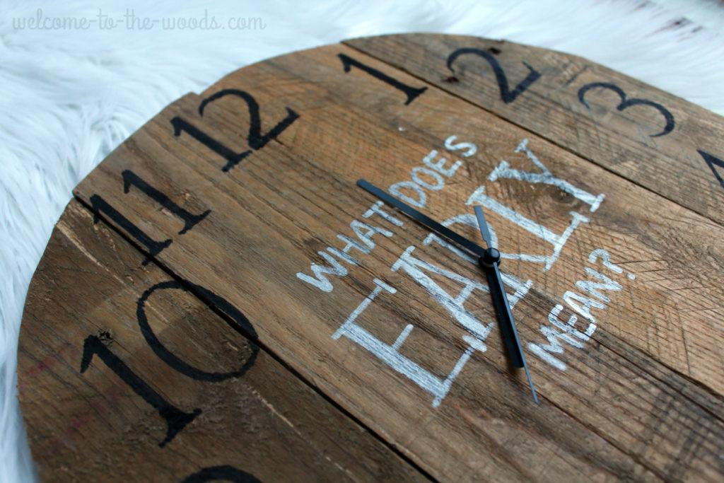 Diy Clock Pallet Wood Welcome Woods