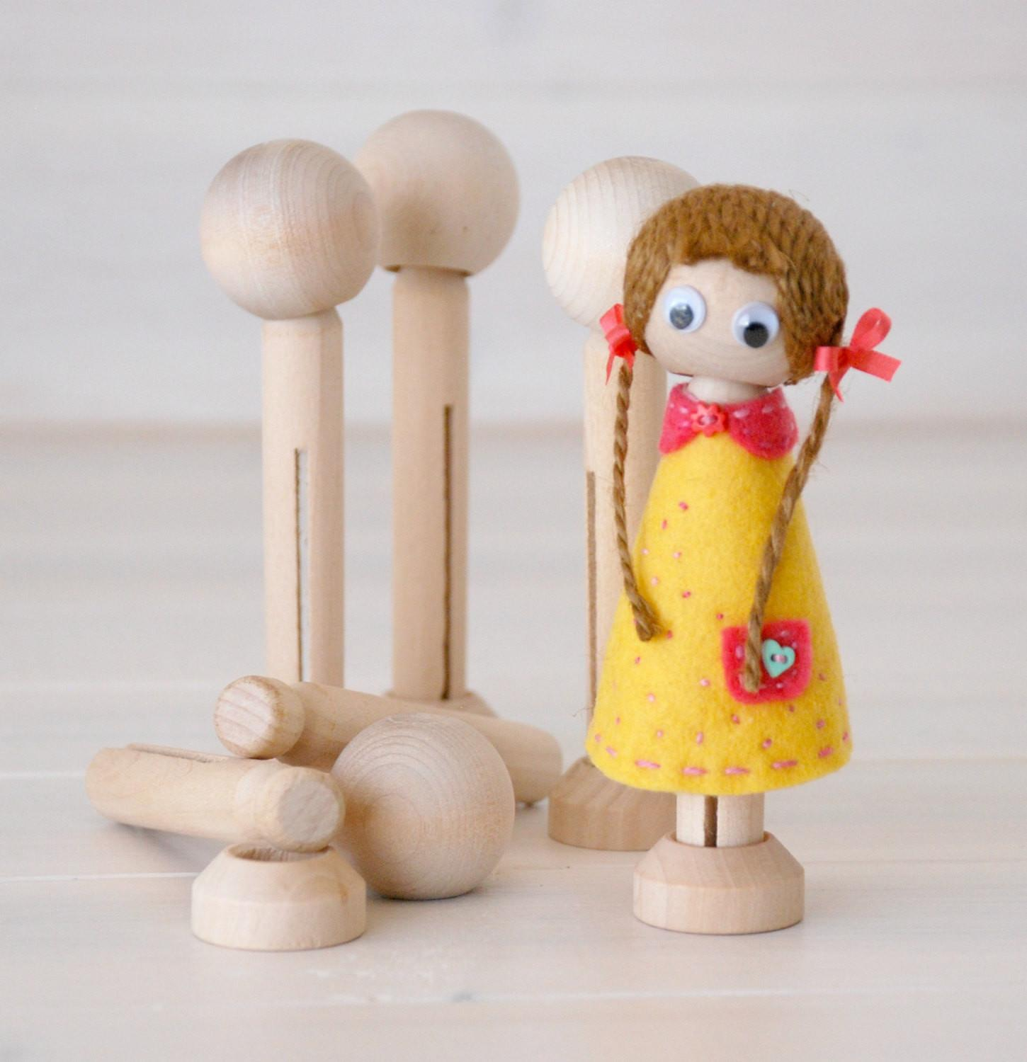 Diy Clothespin Doll Wooden Dolls Clothespins
