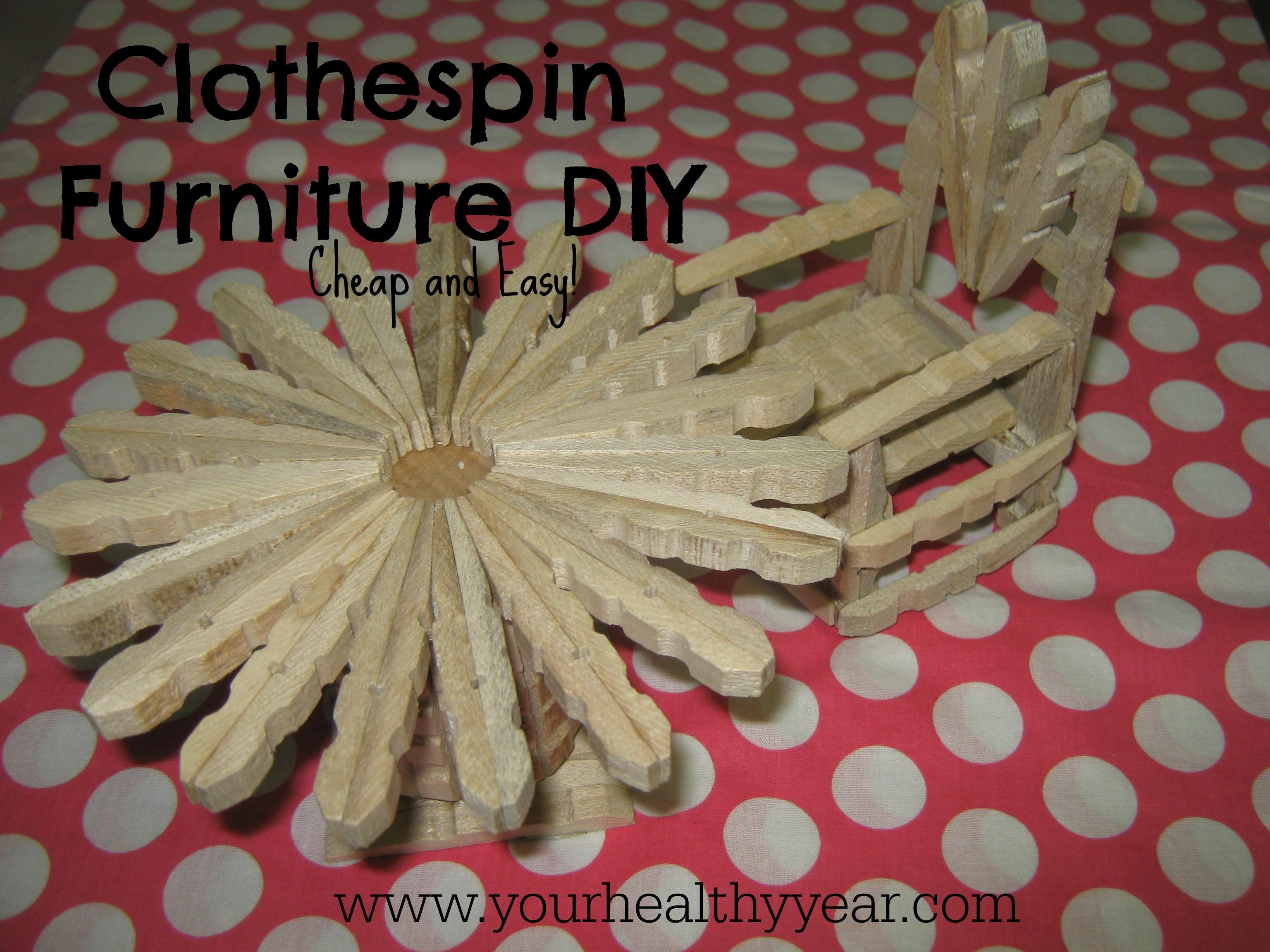 Diy Clothespin Furniture Dolls Plushie Patterns