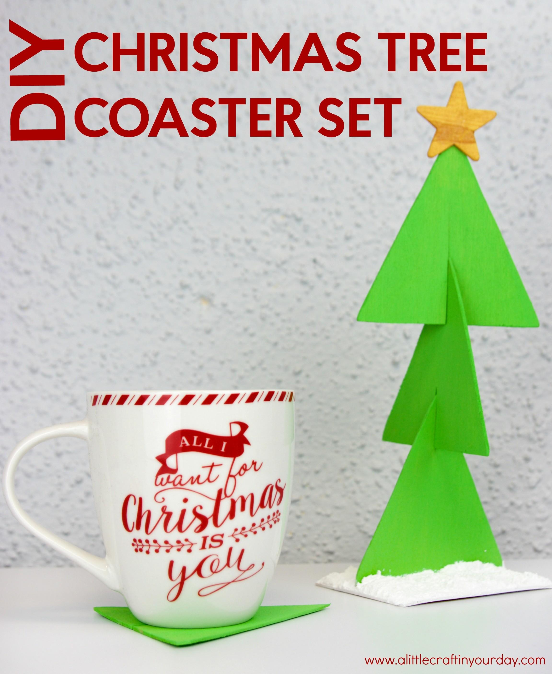 Diy Coaster Christmas Tree Little Craft Your Day