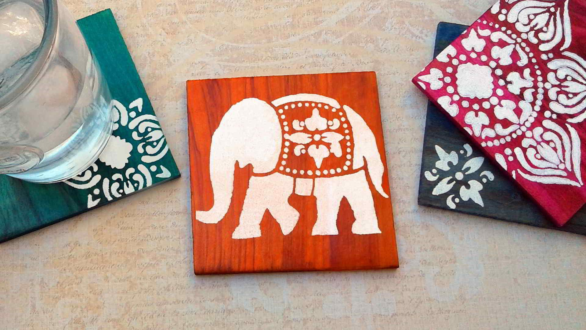 Diy Coasters Make Dyed Stenciled