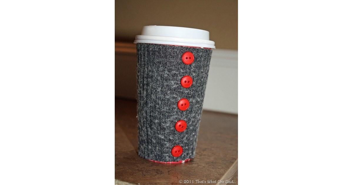 Diy Coffee Cup Cozy Put Sock Smart Ways