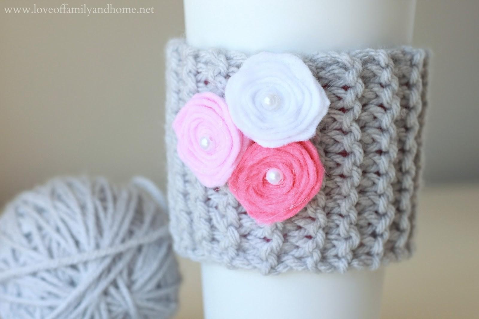 Diy Coffee Cup Cozy Video Tutorial Valentine Day