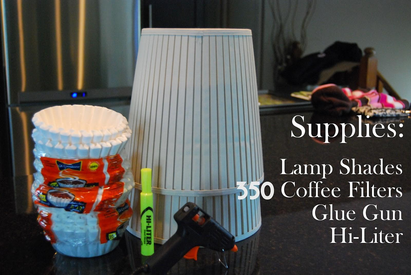 Diy Coffee Filter Lamp Shades Little Miss Mama