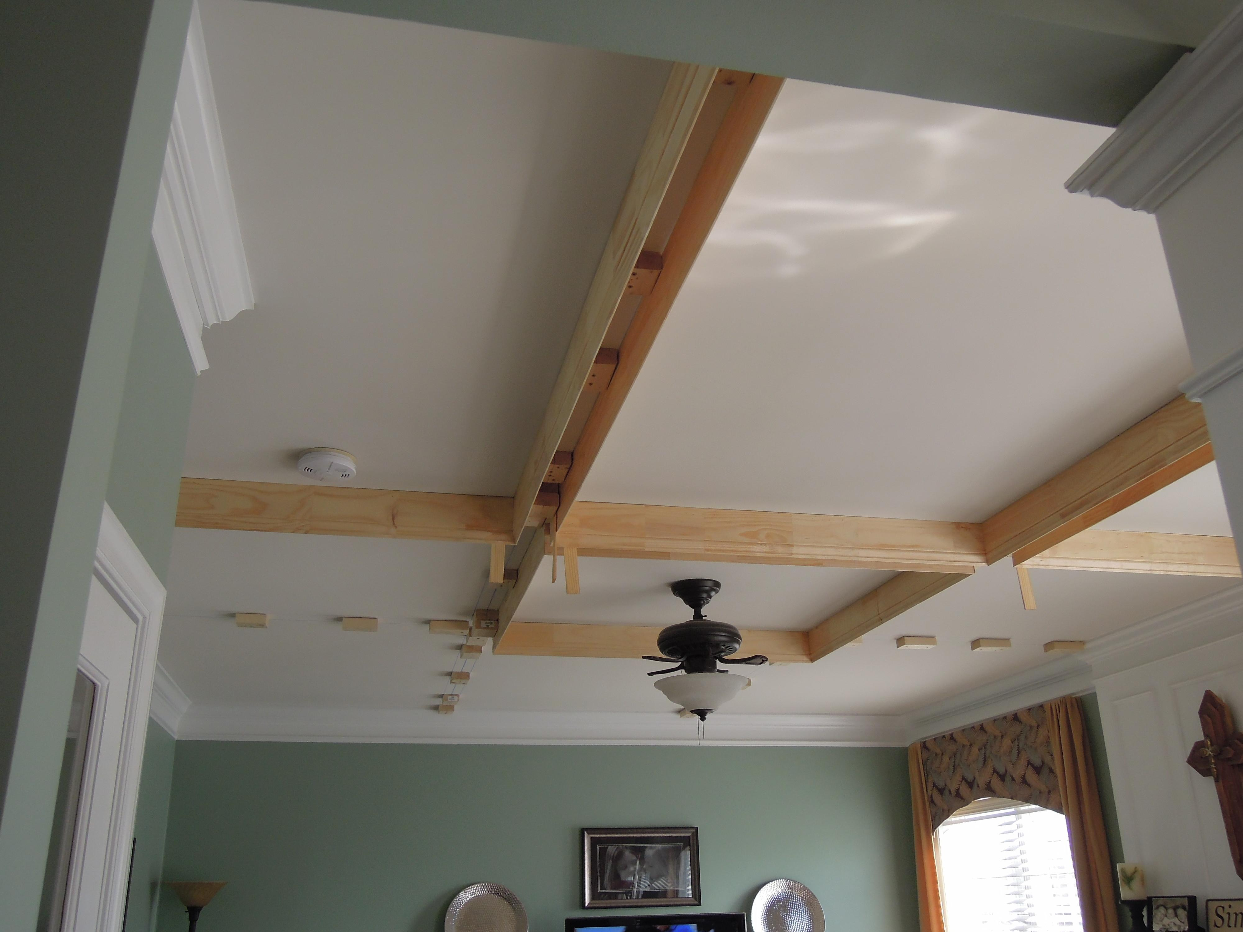 Diy Coffered Ceiling Addicted2projects