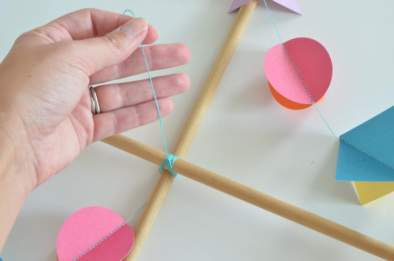 Diy Colorful Geometric Baby Mobile Project Nursery
