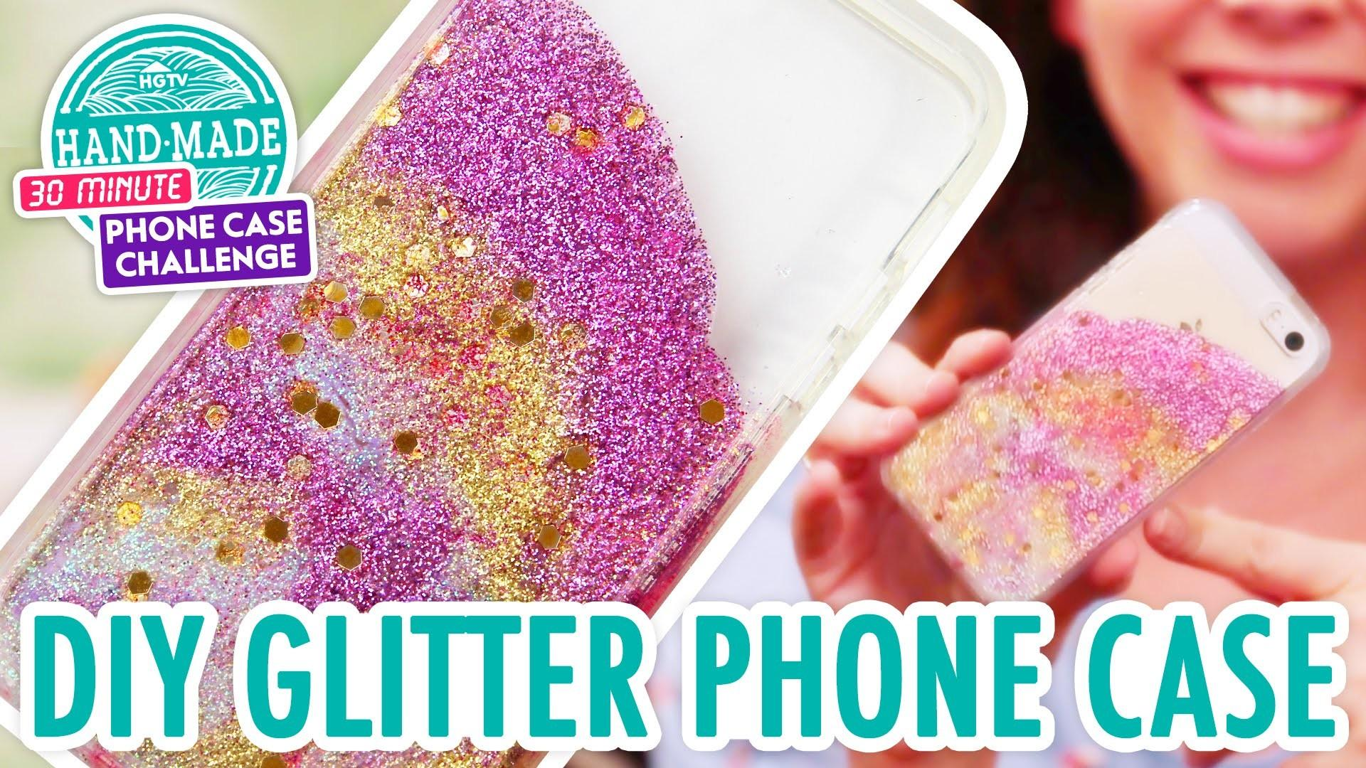 Diy Colorful Glitter Phone Case Handmade