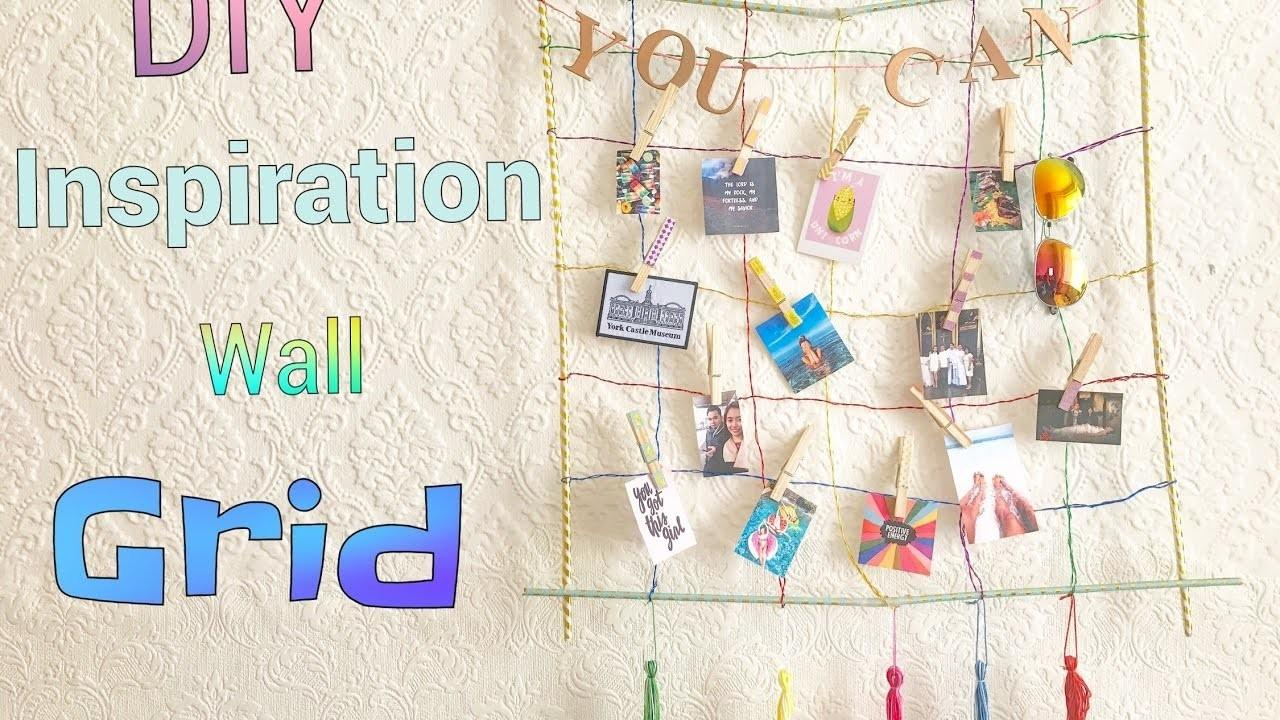 Diy Colorful Inspiration Wall Grid Scratch