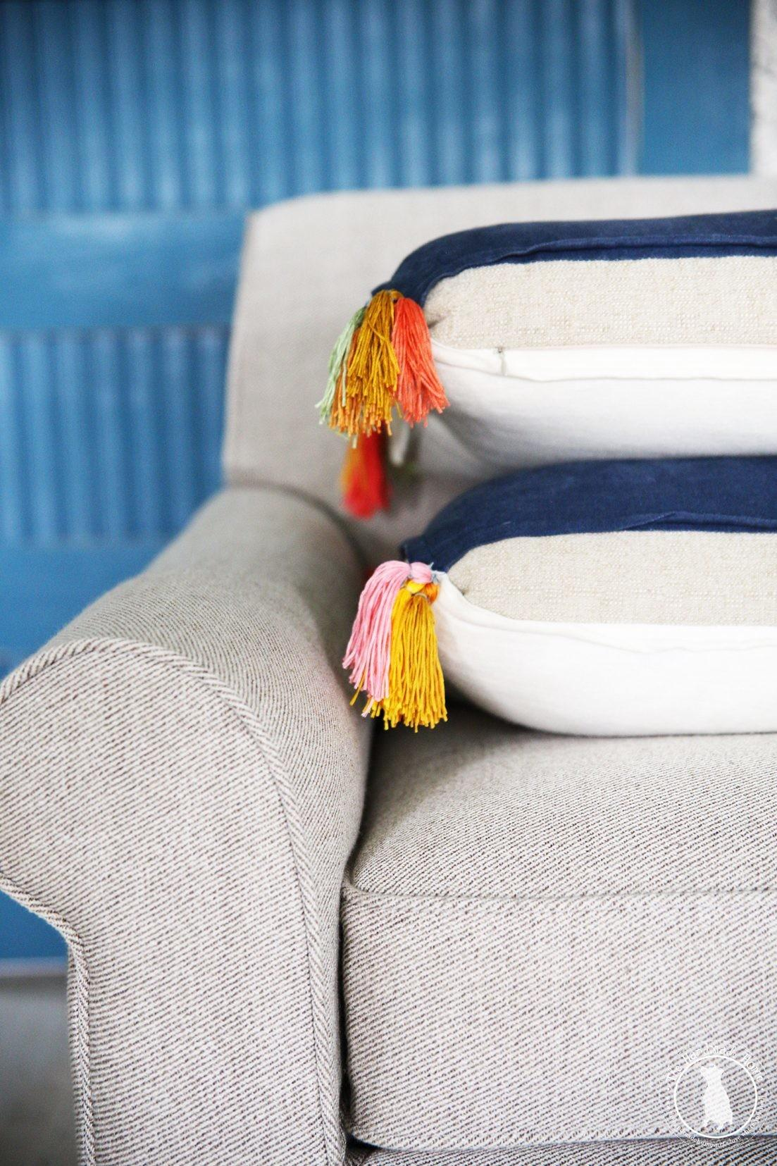 Diy Colorful Tassels Pillows Handmade Home