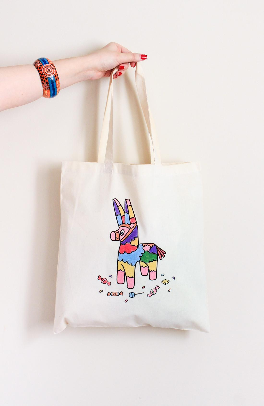 Diy Coloring Book Tote Printable Crafted Life