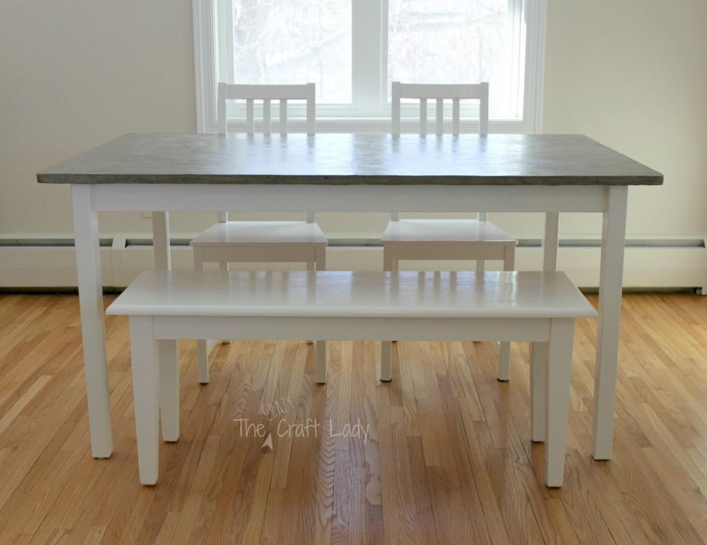 Diy Concrete Dining Table Top Set Makeover