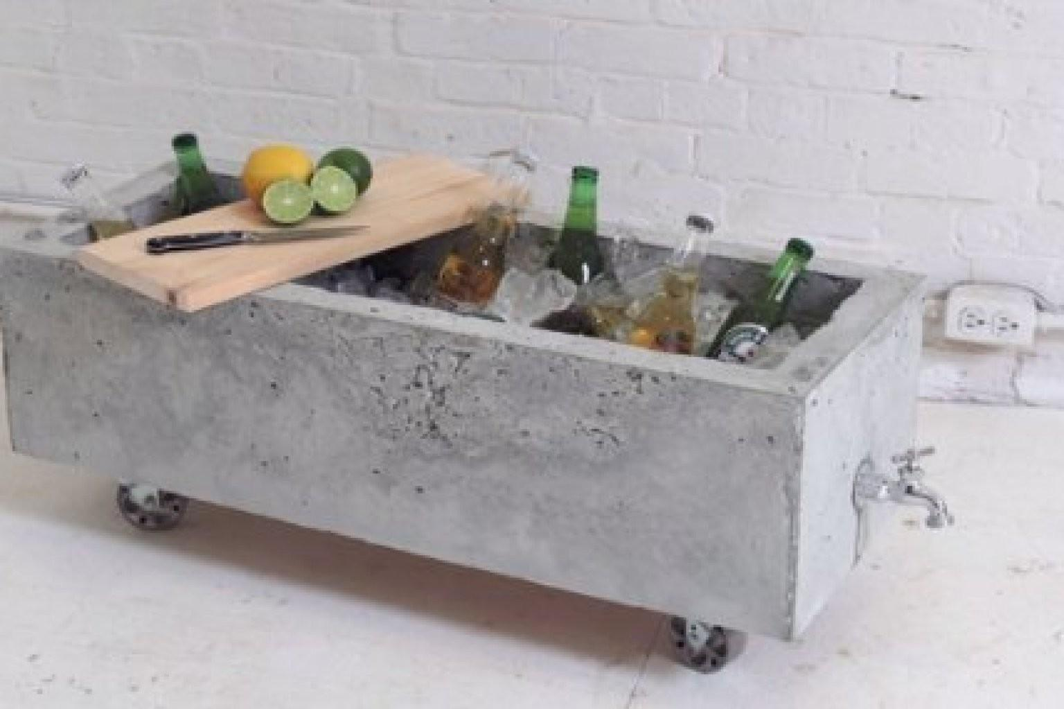 Diy Concrete Planter Doubles Industrial Chic Drink