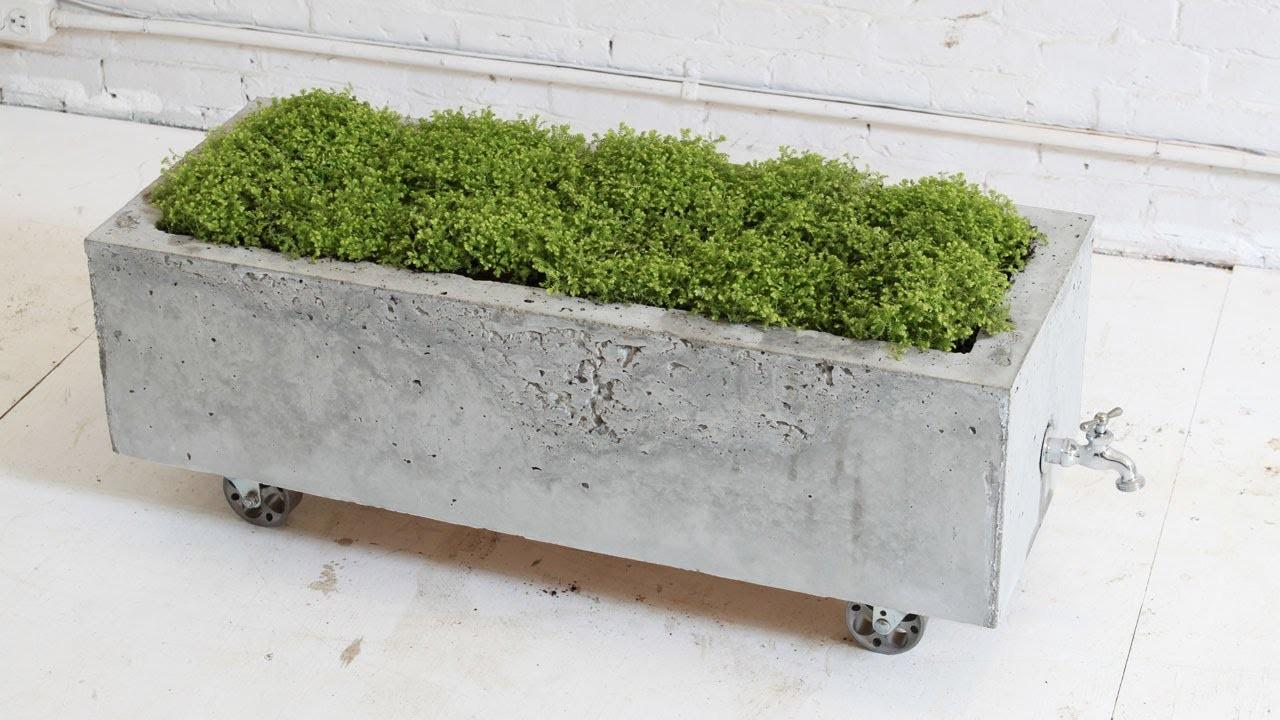 Diy Concrete Planter Episode Homemade Modern Doovi