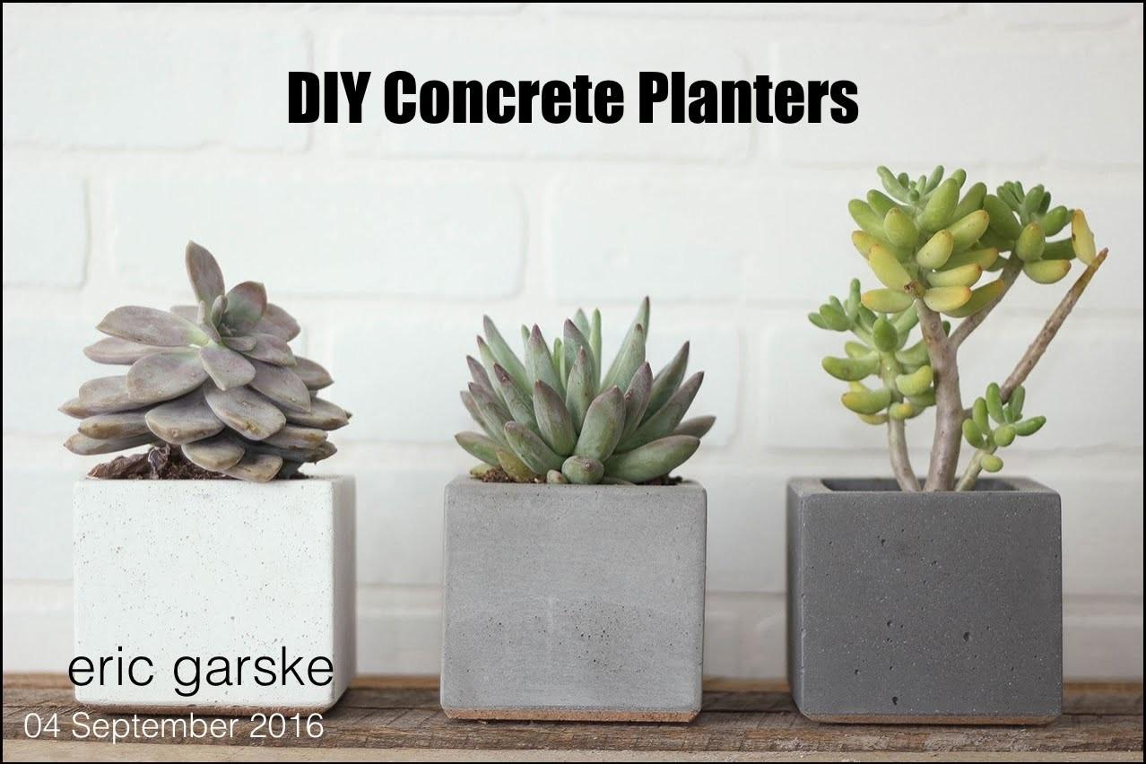 Diy Concrete Planter Simple Easy Eric Garske