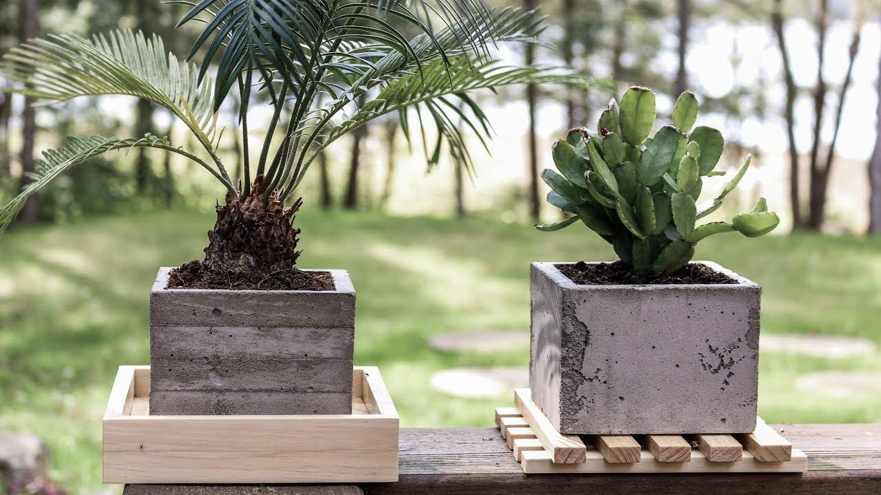 Diy Concrete Planters Board Formed