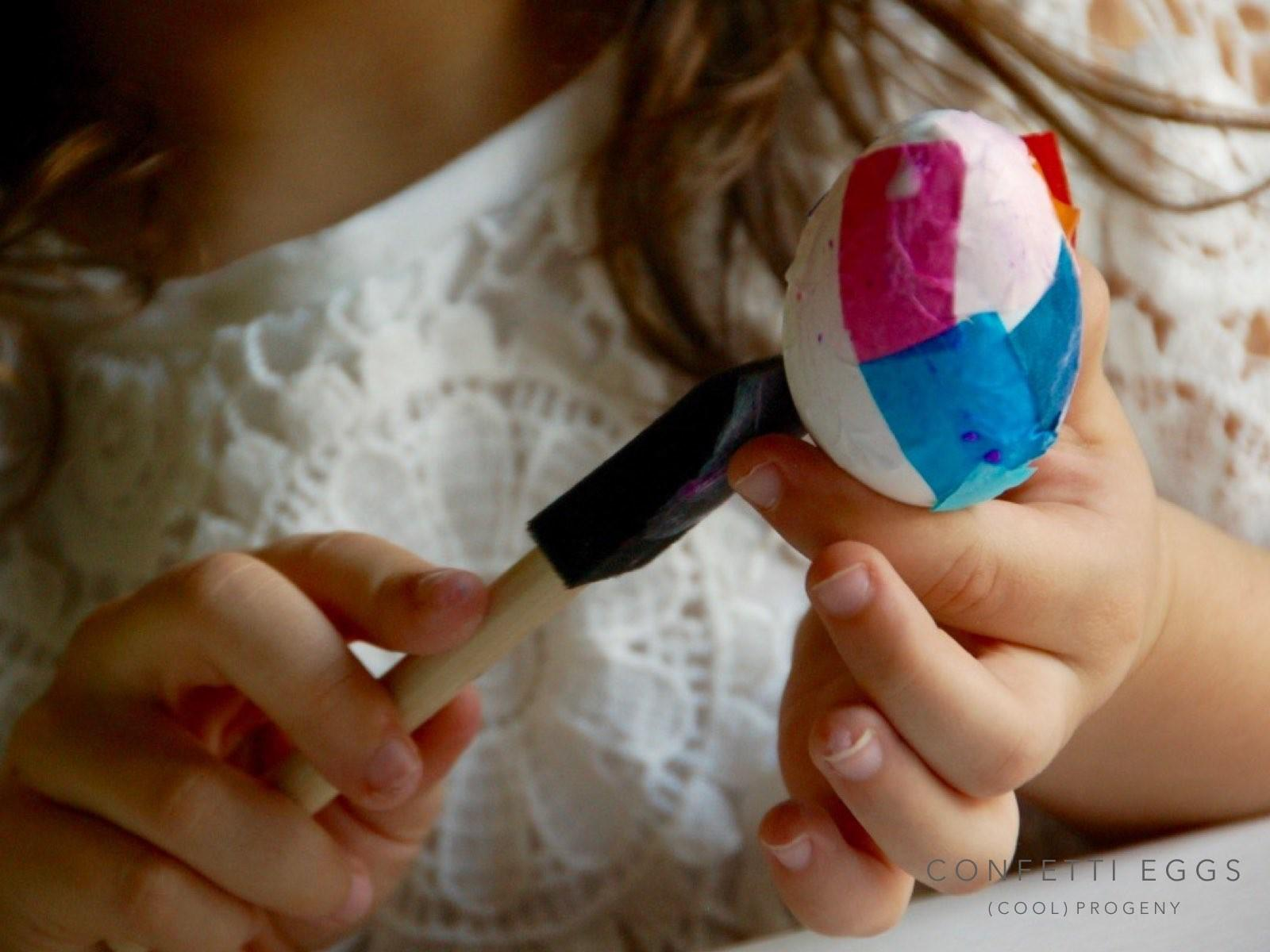 Diy Confetti Easter Eggs Cool Progeny