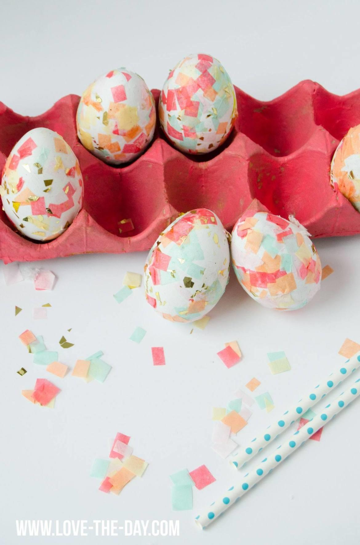Diy Confetti Easter Eggs Love Day
