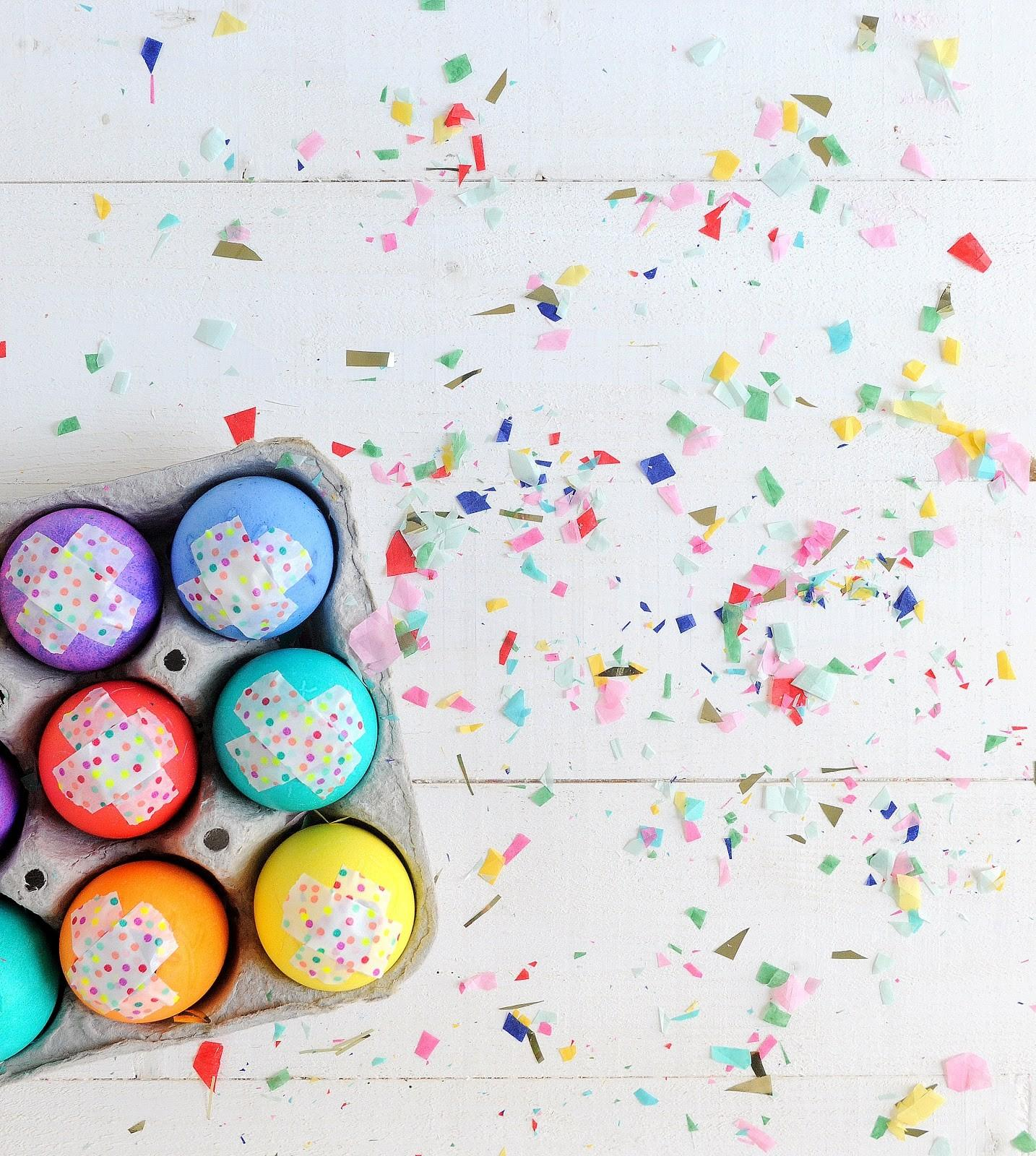 Diy Confetti Filled Easter Eggs