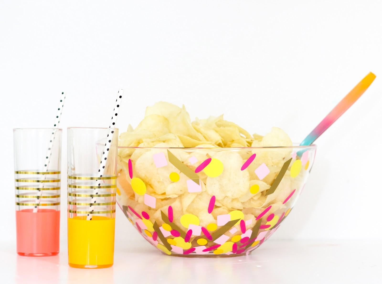 Diy Confetti Party Serving Bowls Kailo Chic Life