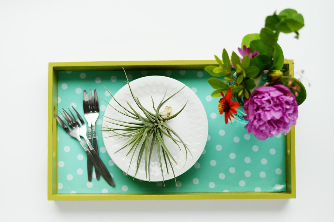 Diy Contribution Oilcloth Covered Tray Homedit Farm