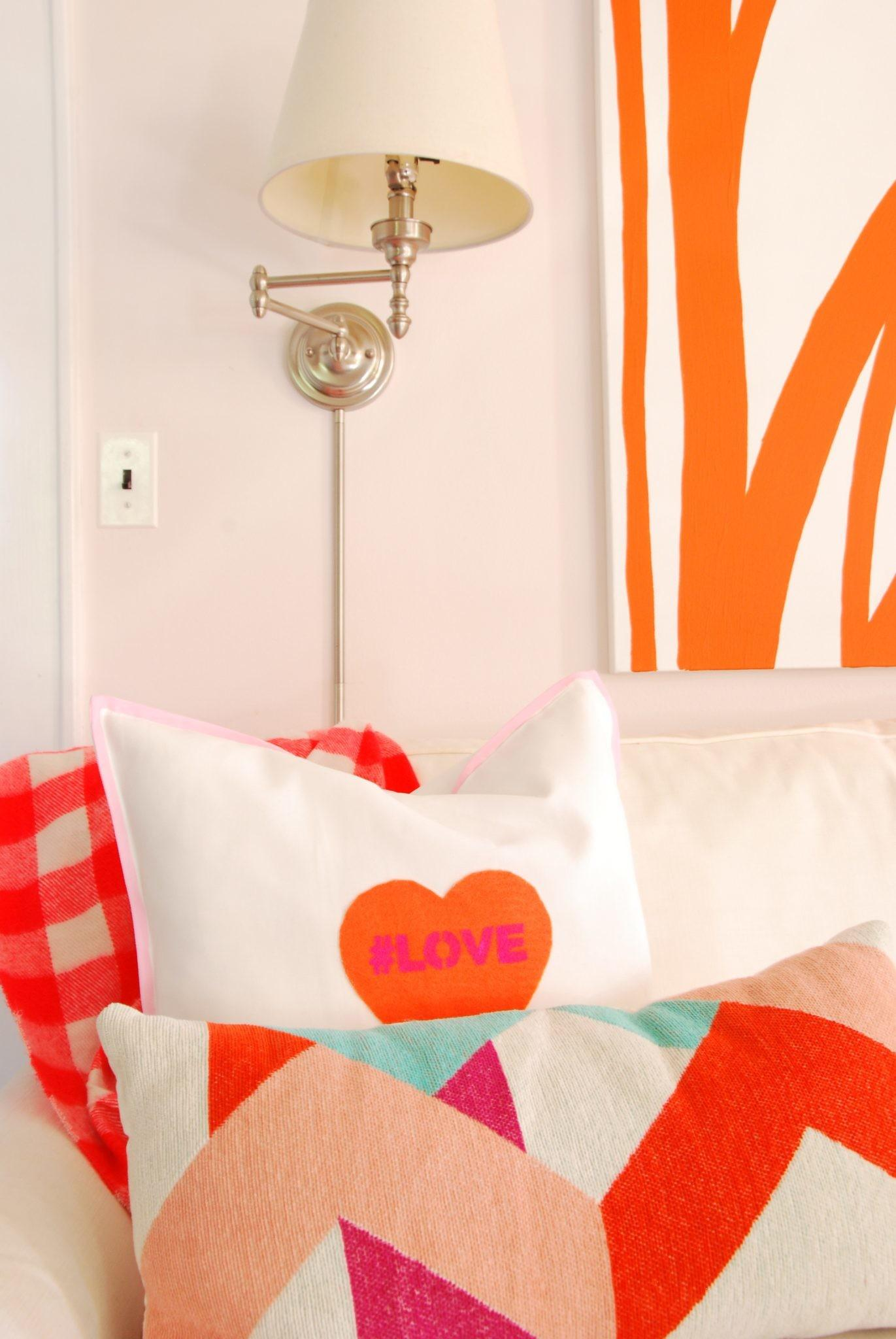 Diy Conversation Heart Pillows Effortless Style Blog
