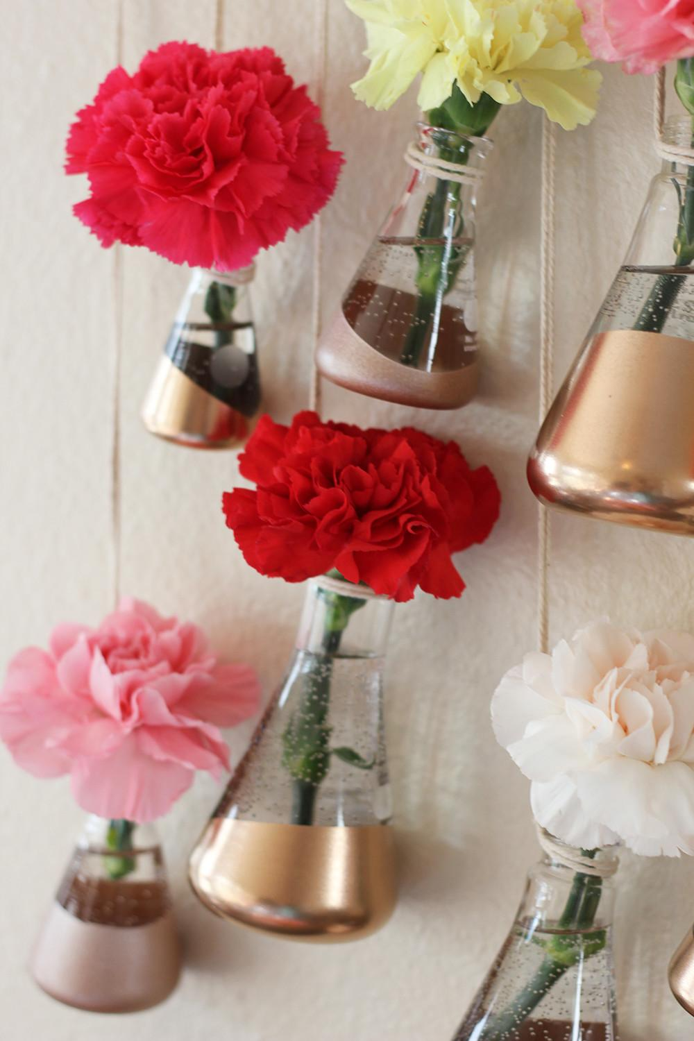 Diy Copper Hanging Bud Vases Homemadebanana