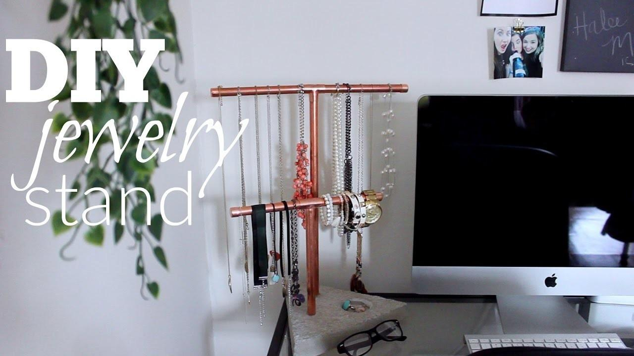 Diy Copper Jewelry Stand Crafts Projects