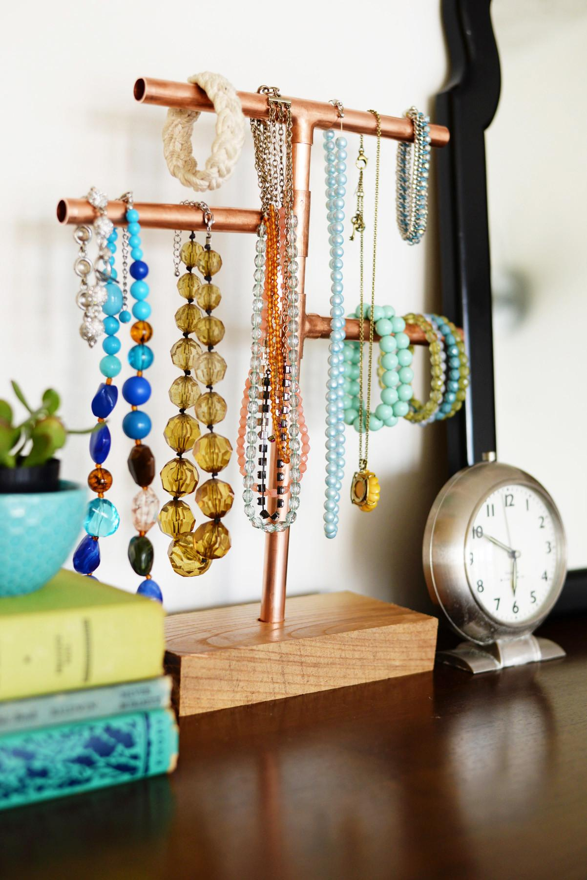 Diy Copper Pipe Jewelry Stand