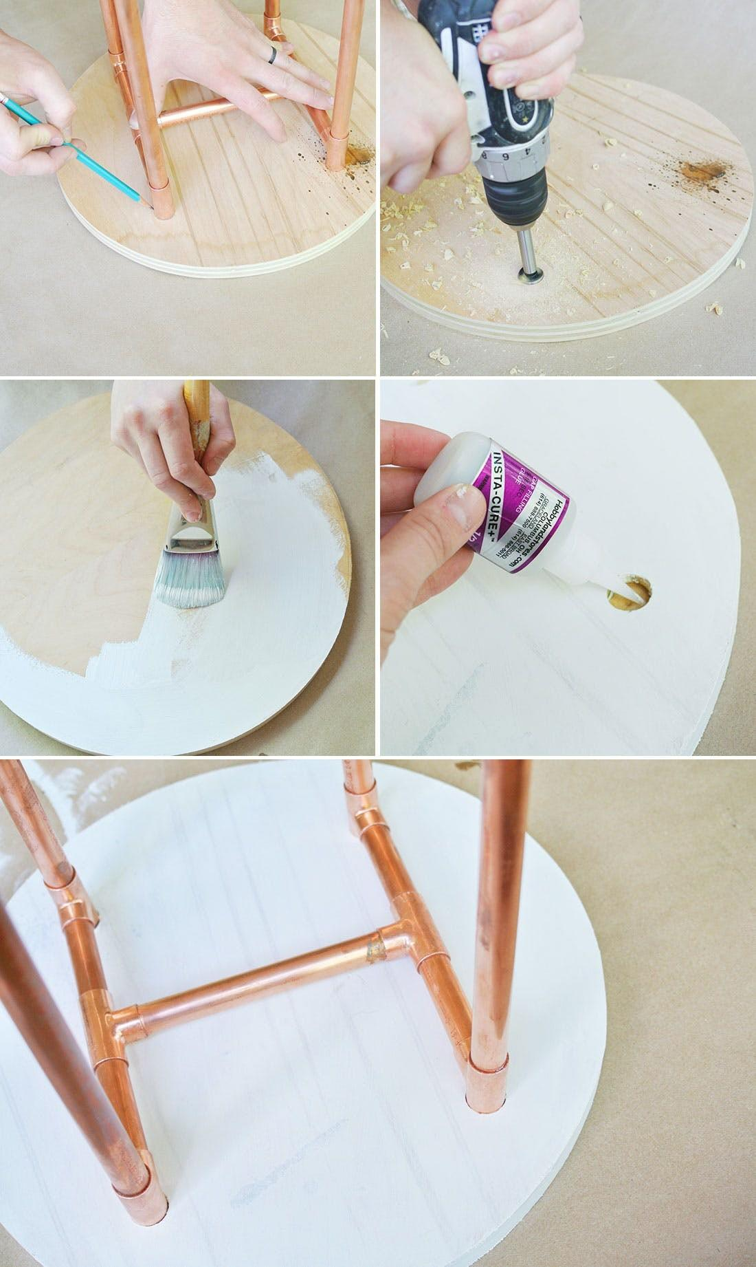 Diy Copper Pipe Side Table Perfect Small