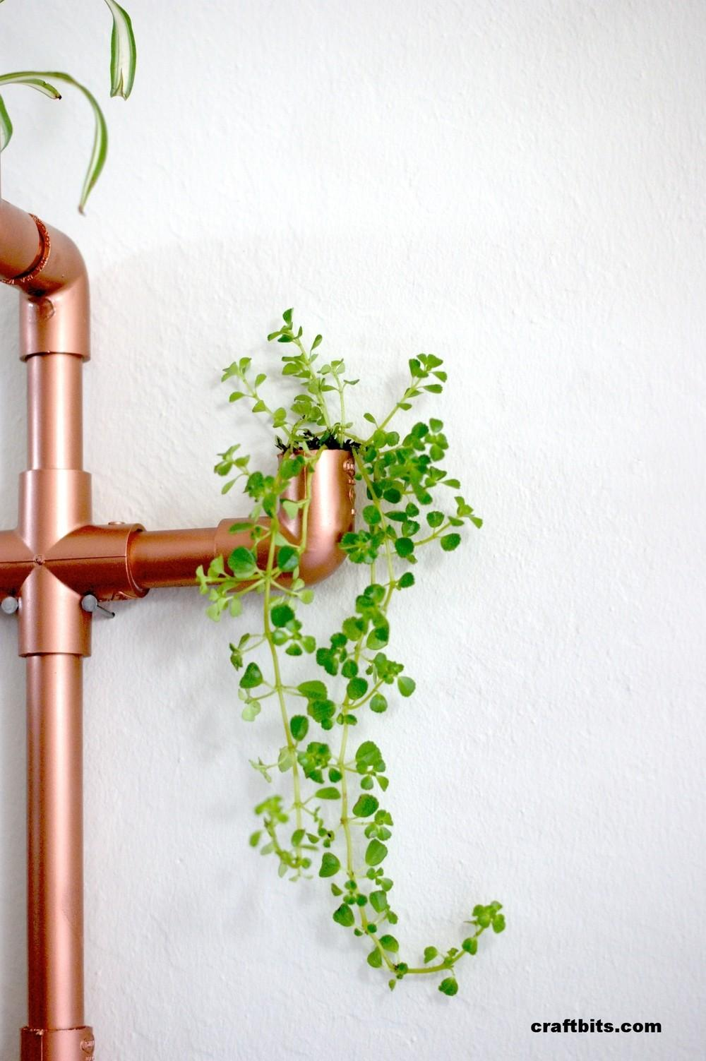 Diy Copper Pvc Wall Planter Charming Project