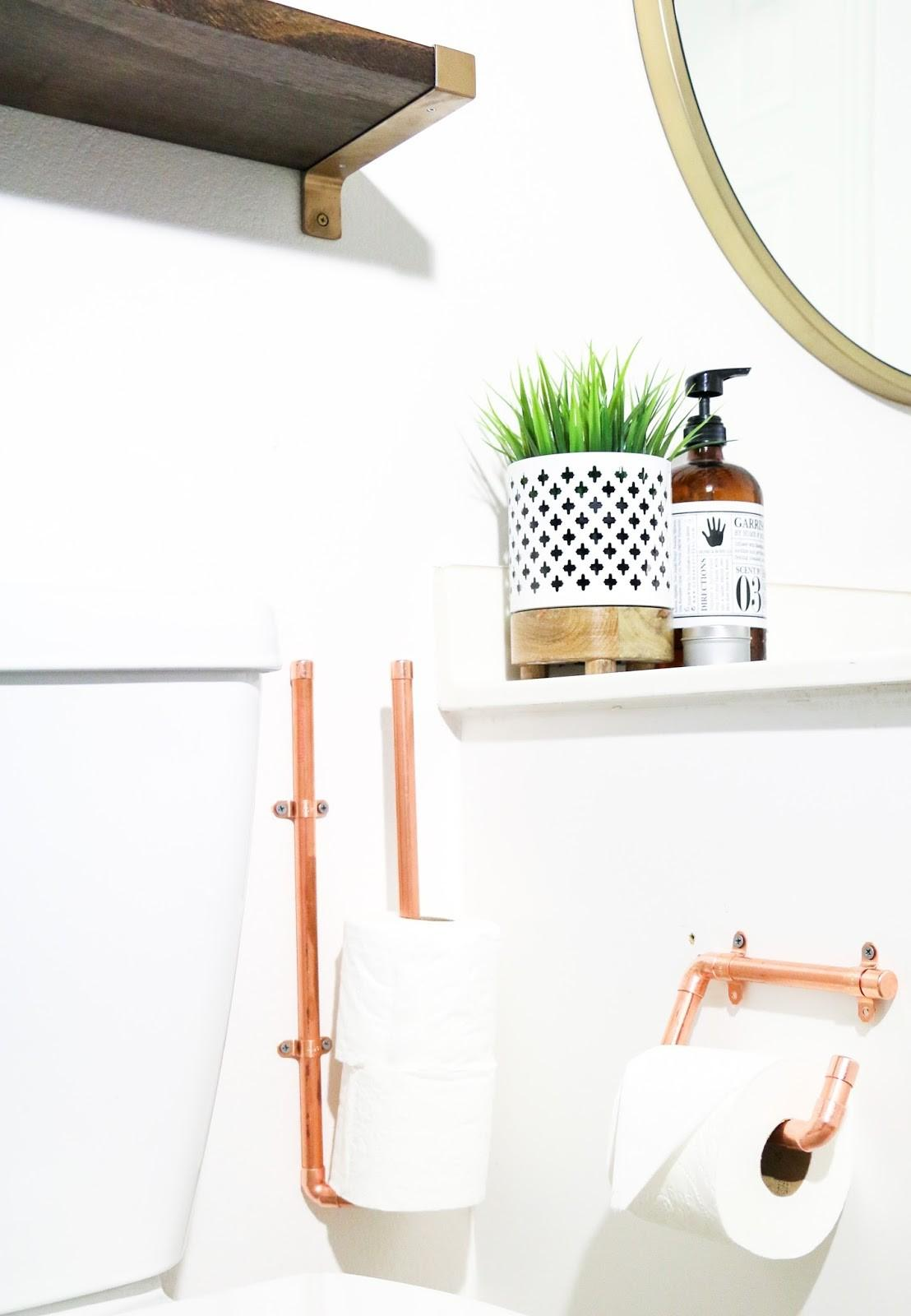 Diy Copper Toilet Paper Holders Kailo Chic Life