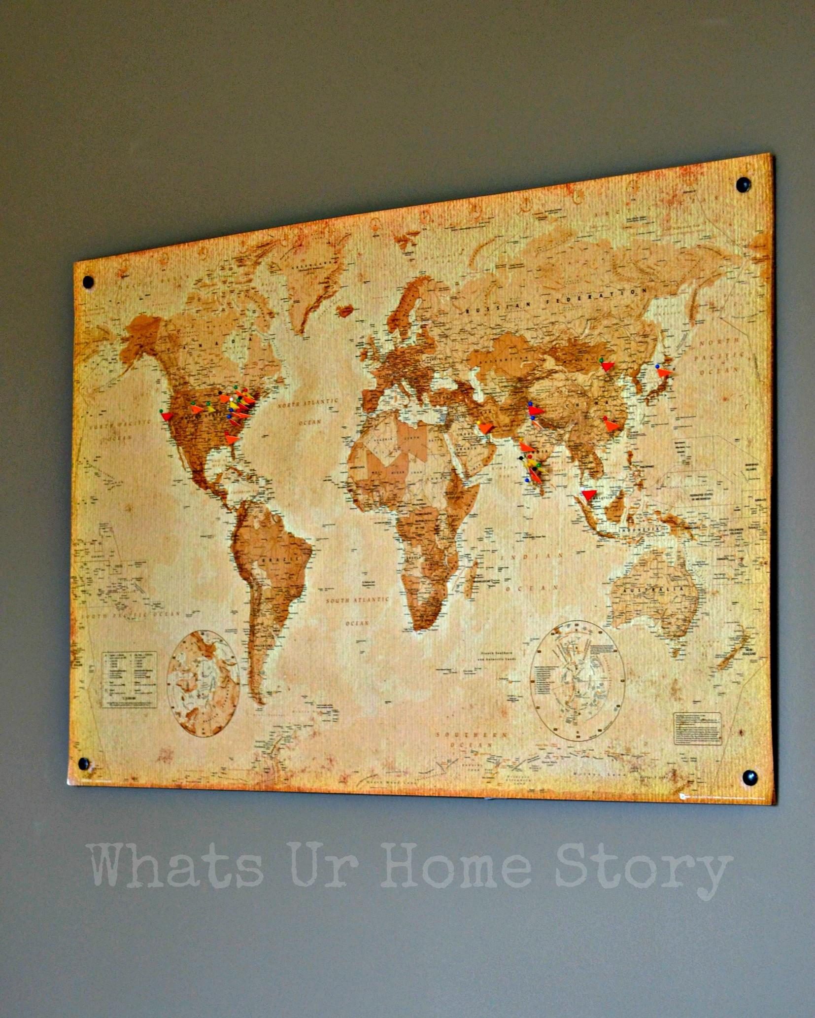Diy Cork Board Map Whats Home Story
