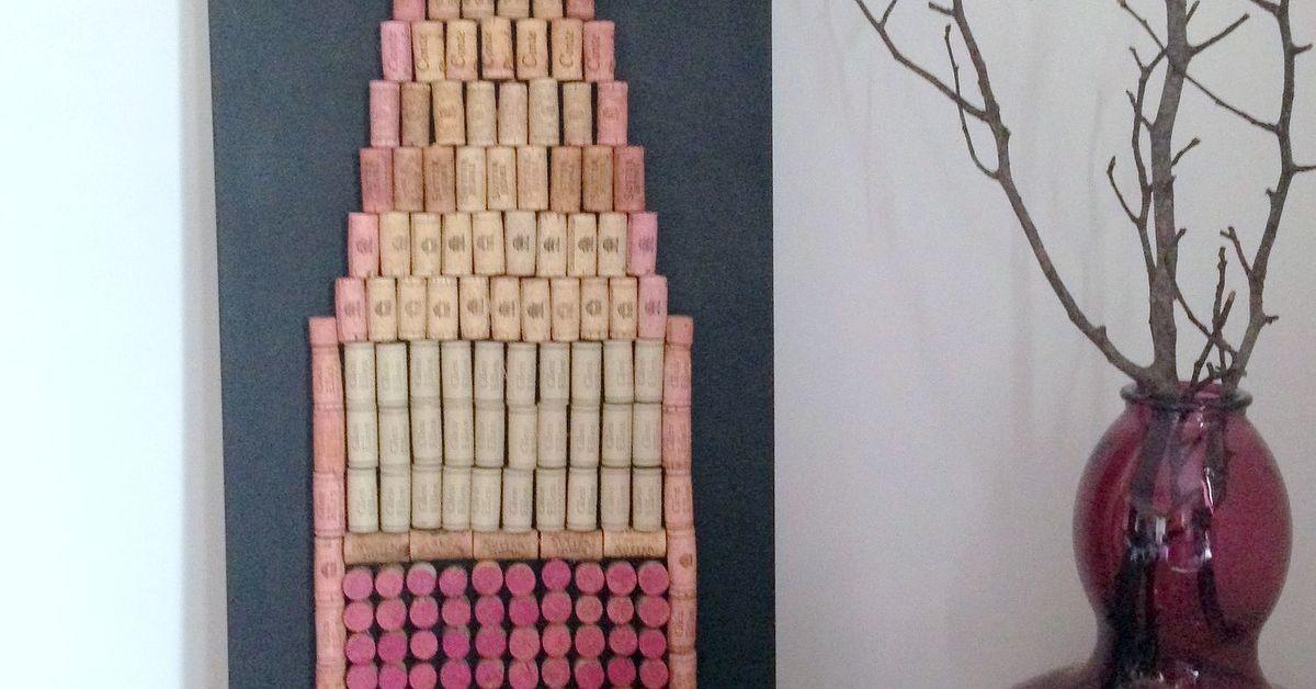 Diy Cork Wine Bottle Wall Hanging Hometalk