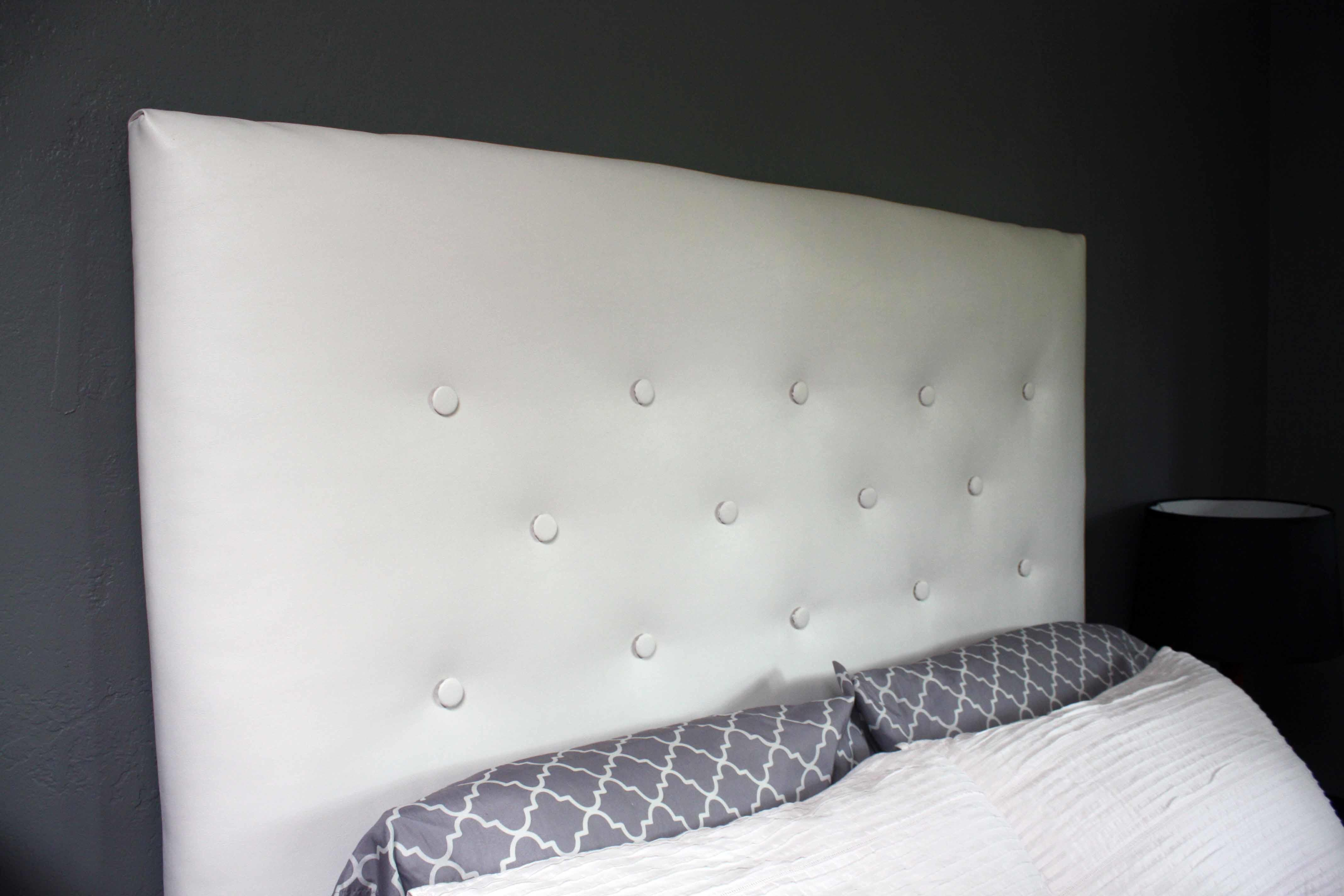 Diy Covered Buttons Tufted Headboard
