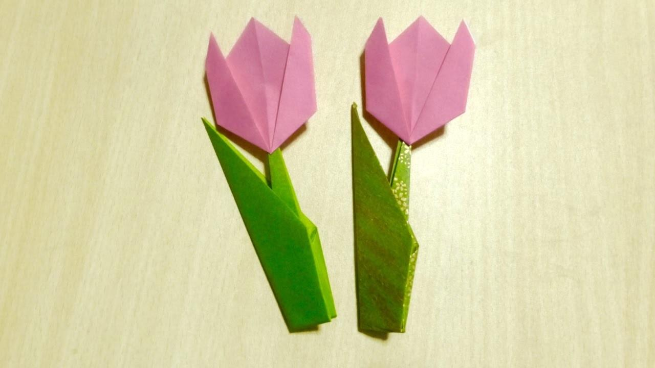 Diy Craft Make Tulip Origami Art Folding